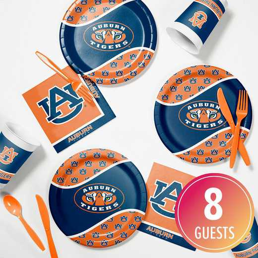 DTC4830C2B: CC Auburn University Tailgating Kit 8ct