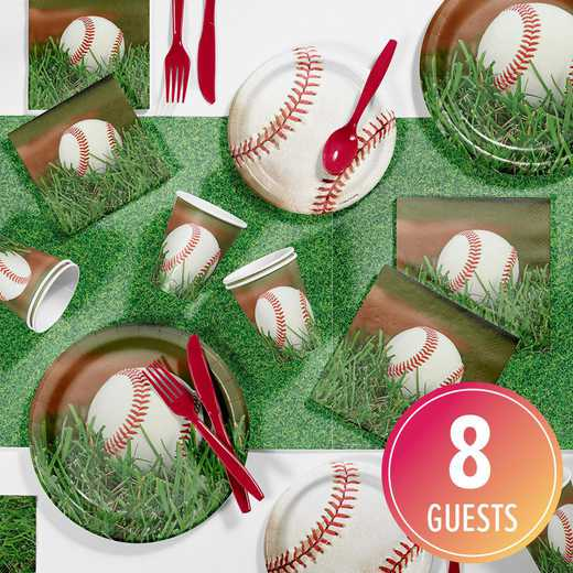 DTC7963C2A: CC Baseball Party Supplies Kit 8ct