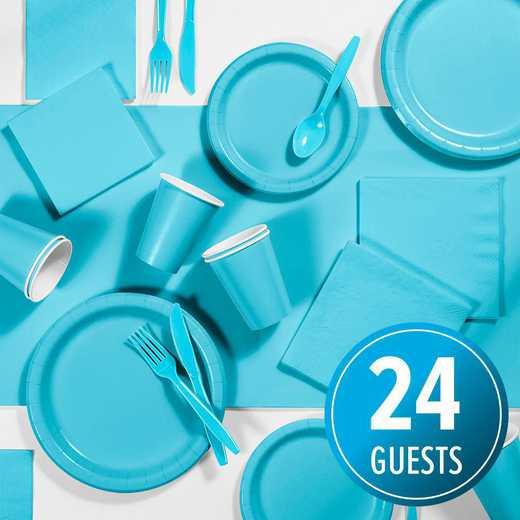 DTC3552X2A: CC Bermuda Blue Party Supplies Kit, 24 ct
