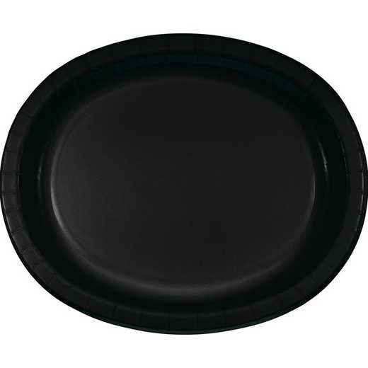DTC433260OVAL: CC Black Oval Plates - 24 Count