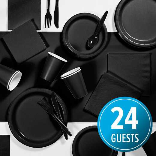 DTC3260X2A: CC Black Party Supplies Kit, 24 ct