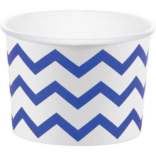 DTC324493TRT: CC Cobalt Blue Chevron Treat Cups