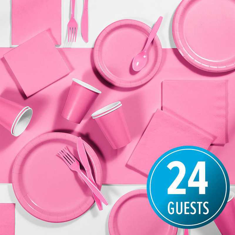 DTC3042C2A: CC Candy Pink Party Supplies Kit, 24 ct