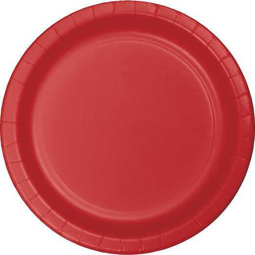 791031B: CC Classic Red Dessert Plates - 24 Count