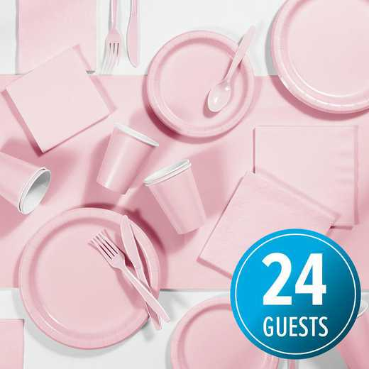 DTC3274X2A: CC Classic Pink Party Supplies Kit, 24 ct