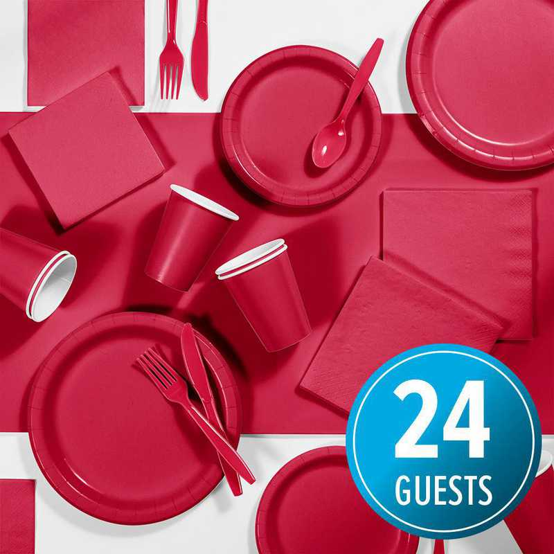 DTC3548X2A: CC Classic Red Party Supplies Kit, 24 ct