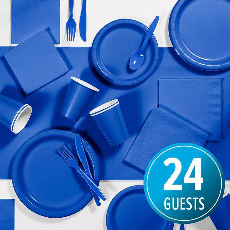 DTC3147C2A: CC Cobalt Blue Party Supplies Kit, 24 ct