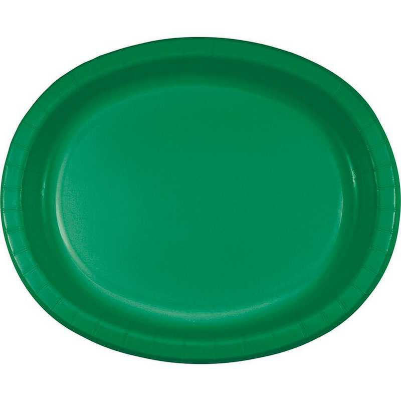 DTC433261OVAL: CC Emerald Green Oval Plates - 24 Count