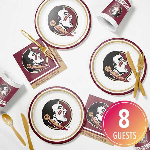 DTC4833C2B: CC Florida State Tailgating Kit 8ct
