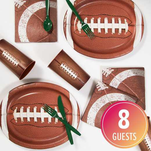 DTC6151C2B: CC Football Party Supplies Kit 8ct