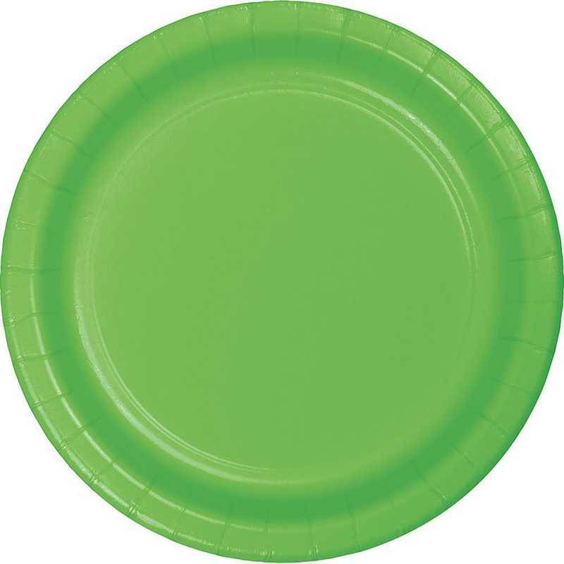 473123B: CC Fresh Lime Green Paper Plates - 24 Count