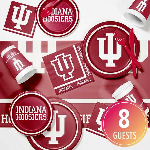 DTC4924C2A: CC Indiana University Game Day Party Supplies Kit 8ct