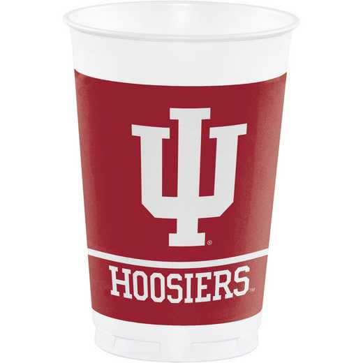 DTC374924TUMB: CC Indiana University Plastic Cups - 24 Count