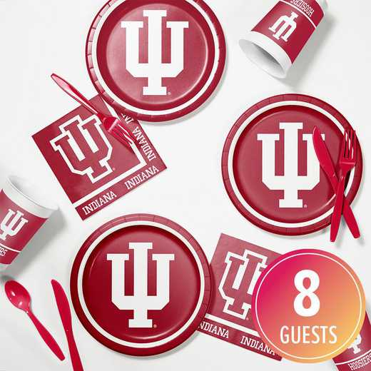 DTC4924C2B: CC Indiana University Tailgating Kit 8ct
