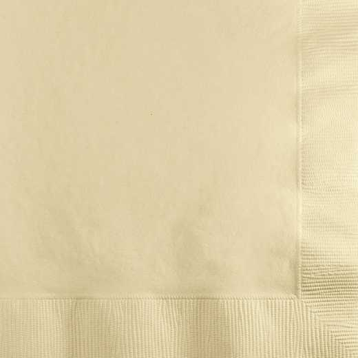 80161B: CC Ivory Beverage Napkins - 50 Count