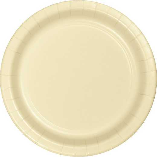 47161B: CC Ivory Paper Plates - 24 Count