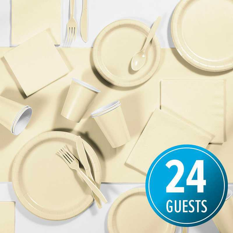 DTC3264X2A: CC Ivory Party Supplies Kit, 24 ct