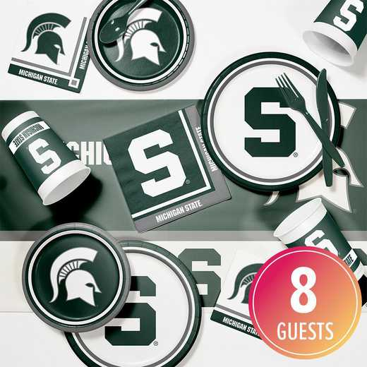 DTC4716C2A: CC Michigan State Game Day Party Supplies Kit 8ct
