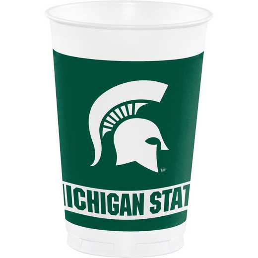 DTC374716TUMB: CC Michigan State University Plastic Cups - 24 Count