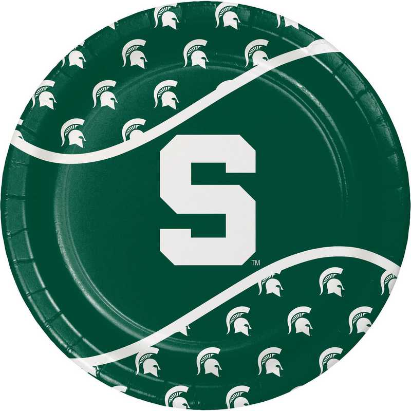 DTC424716DPLT: CC Michigan State University Paper Plates - 24 Count