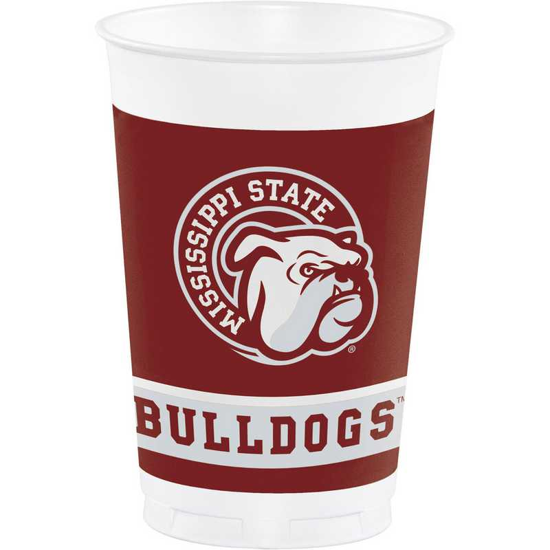 DTC014094TUMB: CC Mississippi State University Plastic Cups - 24 Count