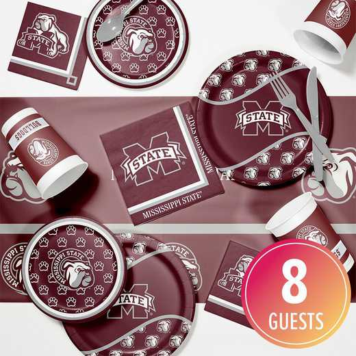 DTC4094C2A: CC Mississippi State Univ Game Day Party Supplies Kit 8ct