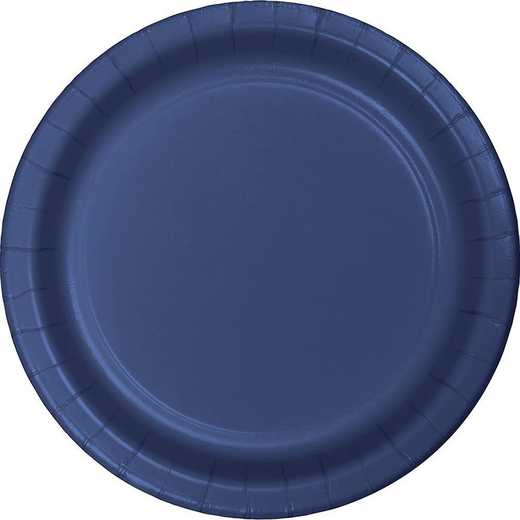 471137B: CC Navy Blue Paper Plates - 24 Count
