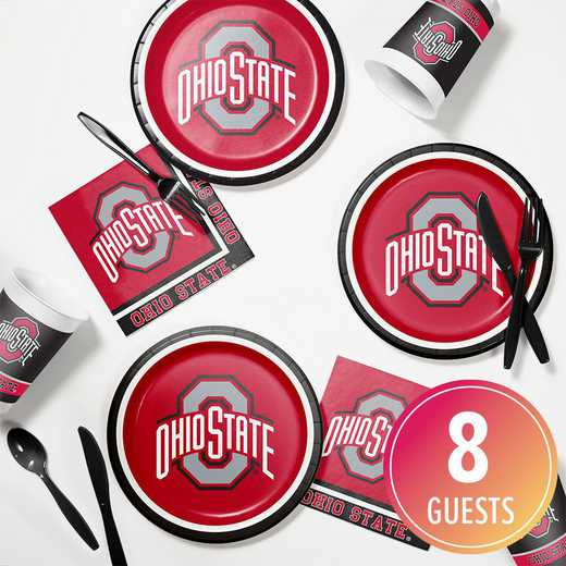 DTC4843C2B: CC Ohio State University Tailgating Kit 8ct