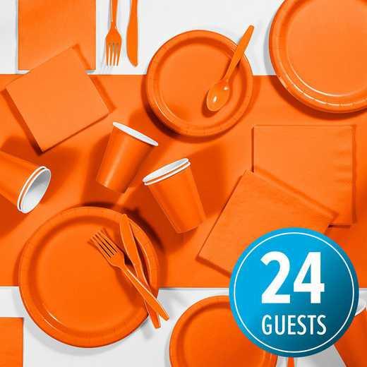 DTC3282X2A: CC Orange Party Supplies Kit, 24 ct