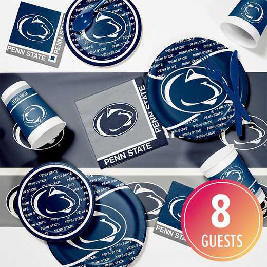 DTC4729C2A: CC Penn State University Game Day Party Supplies Kit 8ct