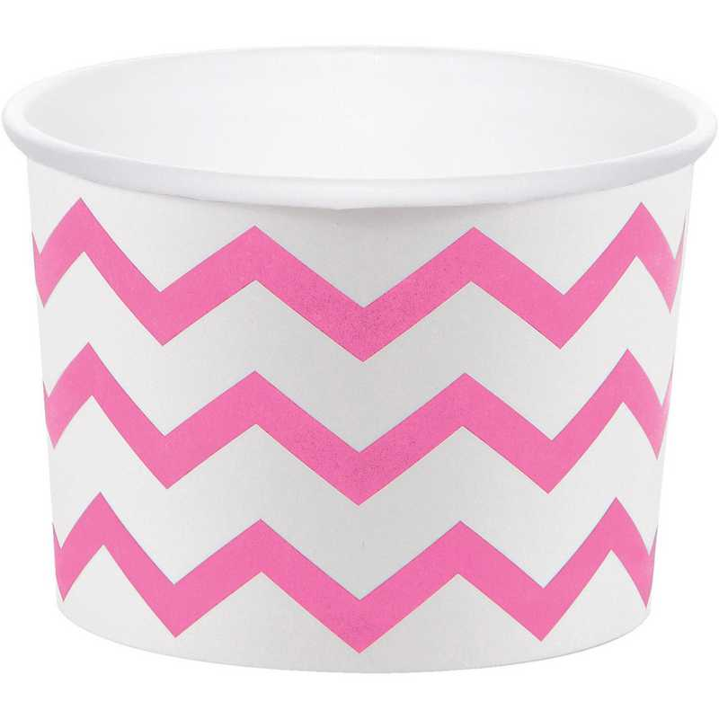 DTC051331TRT: CC Candy Pink Chevron Treat Cups