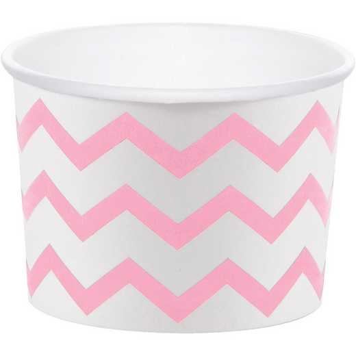DTC051337TRT: CC Classic Pink Chevron Treat Cups