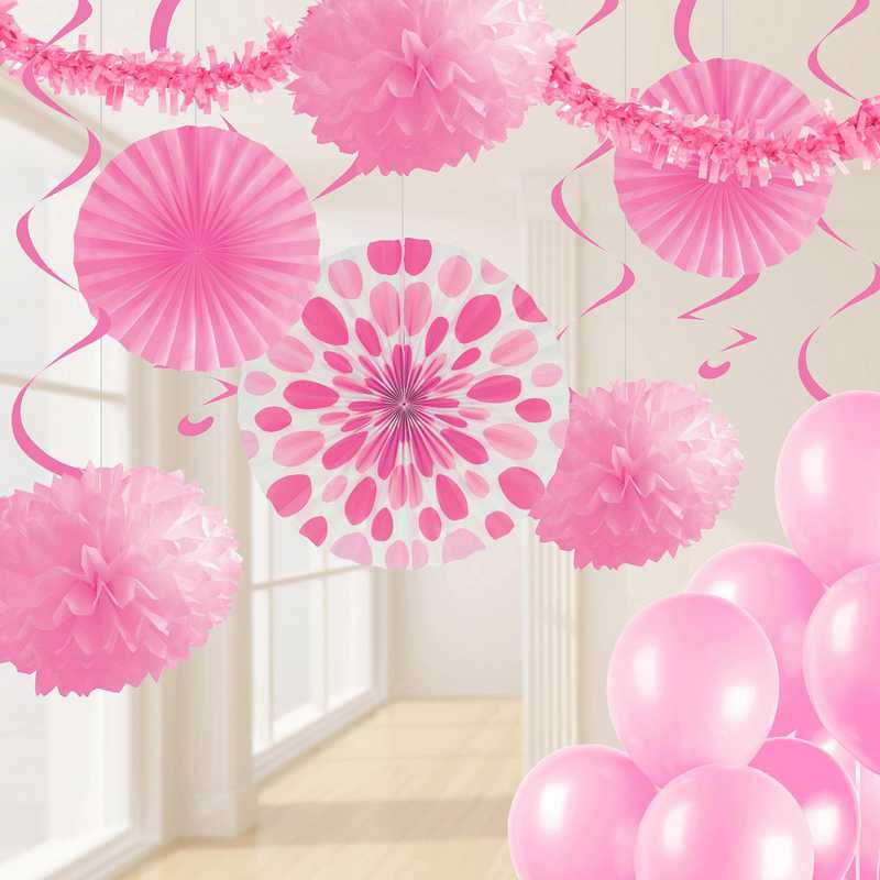 DTCCDPNK1A: CC Candy Pink Party Decorations Kit