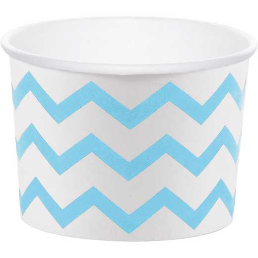 DTC051336TRT: CC Pastel Blue Chevron Treat Cups