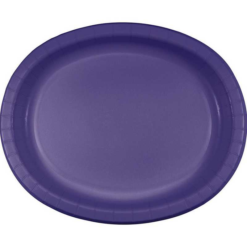 DTC433268OVAL: CC Purple Oval Plates - 24 Count