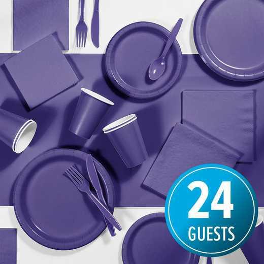 DTC3268X2A: CC Purple Party Supplies Kit, 24 ct
