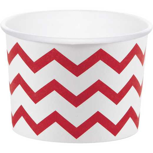 DTC051334TRT: CC Classic Red Chevron Treat Cups