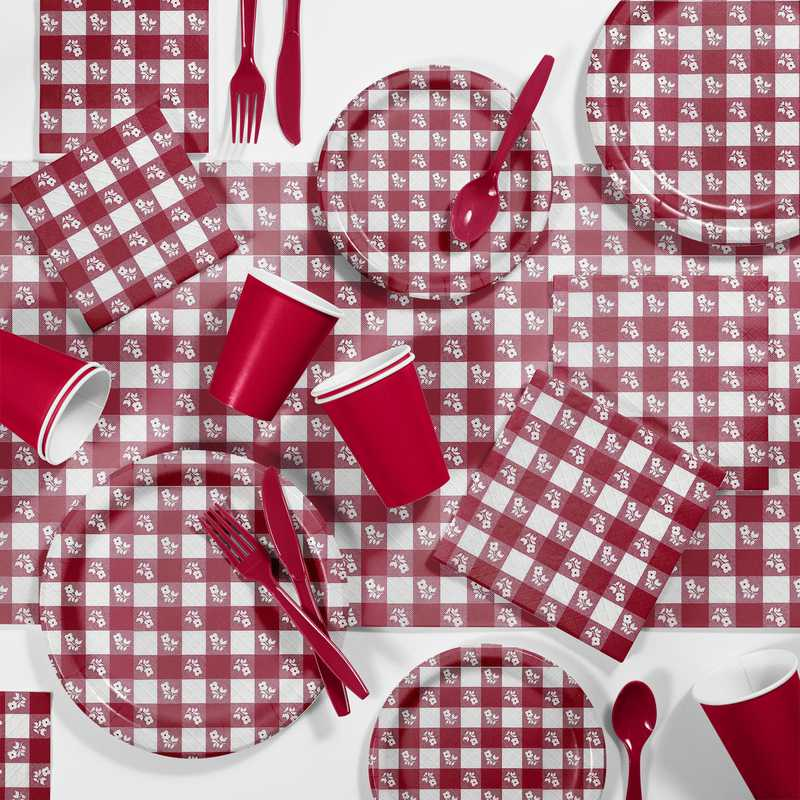 DTCRGING2A: CC Red Gingham Picnic Supplies Kit