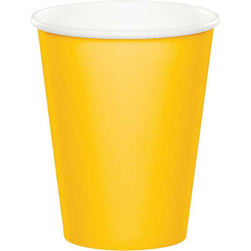 561021B: CC School Bus Yellow Cups - 24 Count