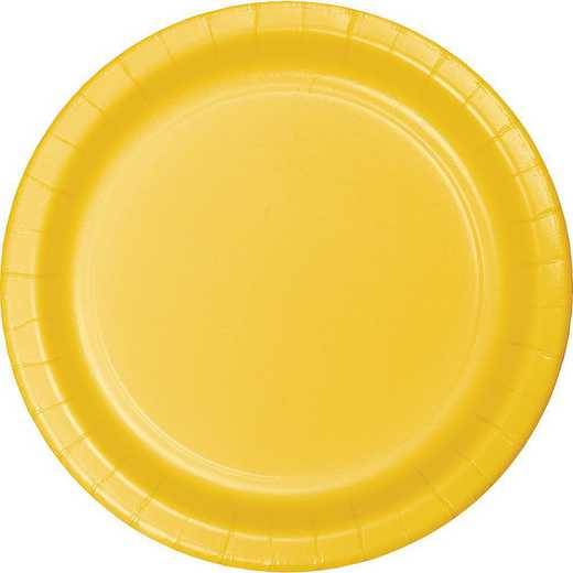 791021B: CC School Bus Yellow Dessert Plates - 24 Count