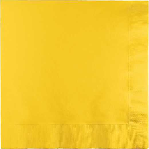 6691021B: CC School Bus Yellow Lg Napkins - 50 Count