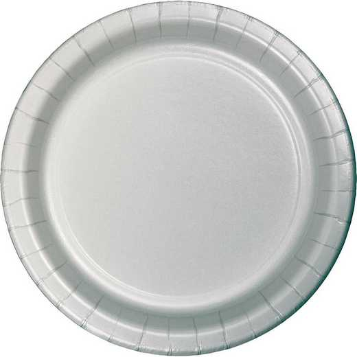 47106B: CC Shimmering Silver Paper Plates - 24 Count