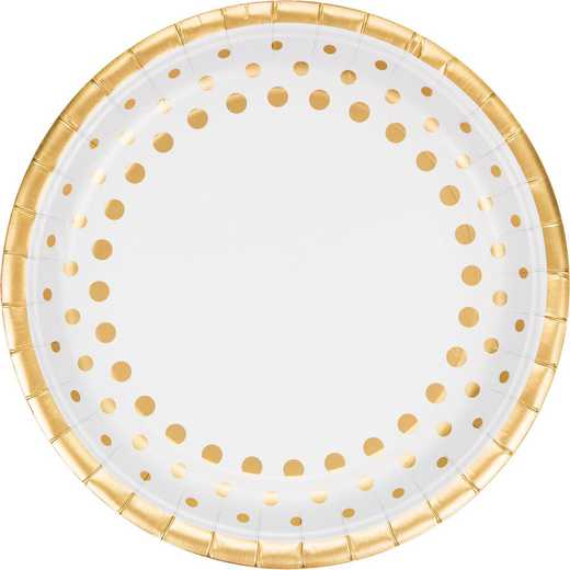 DTC317839DPLT: CC Sparkle and Shine Gold Foil Paper Plates