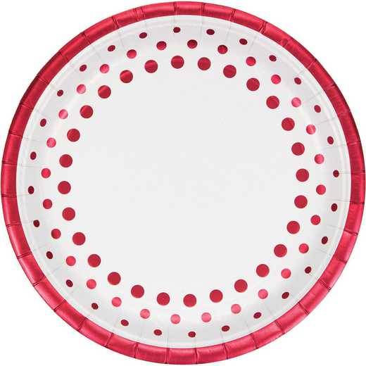 DTC317853DPLT: CC Sparkle and Shine Ruby Foil Paper Plates