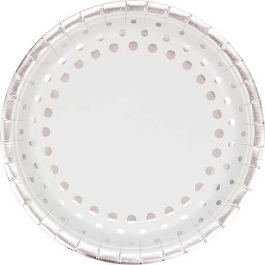 DTC317995BPLT: CC Sparkle and Shine Silver Banquet Plates