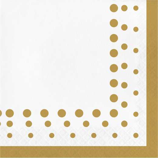 DTC317842NAP: CC Sparkle and Shine Gold Napkins