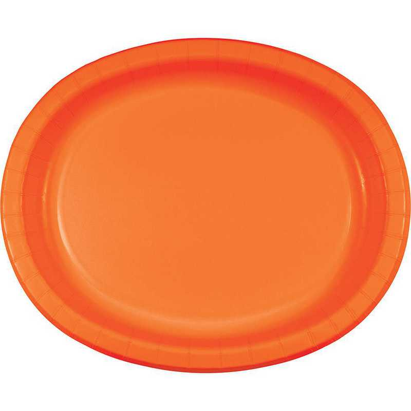 DTC433282OVAL: CC Sunkissed Orange Oval Plates - 24 Count