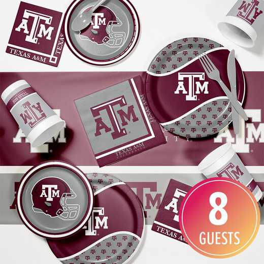 DTC4848C2A: CC Texas A & M Game Day Party Supplies Kit 8ct
