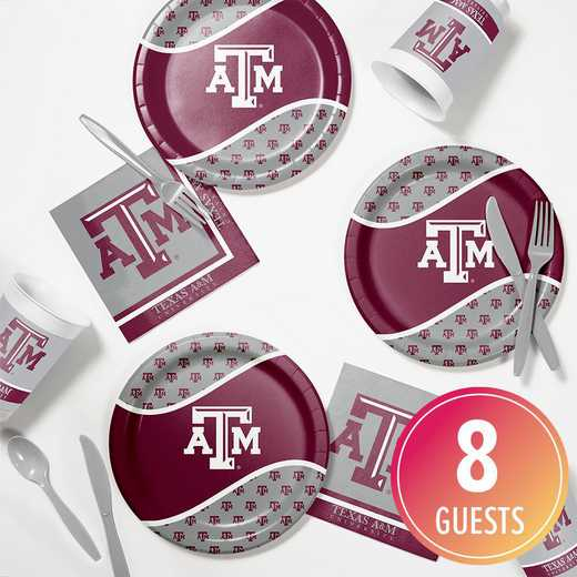 DTC4848C2B: CC Texas A & M Tailgating Kit 8ct