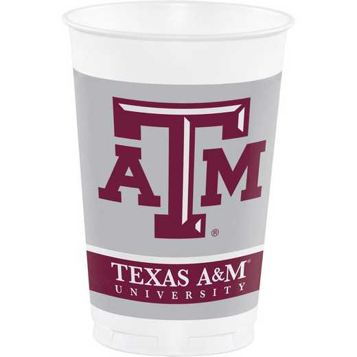 DTC014848TUMB: CC Texas A and M University Plastic Cups - 24 Count